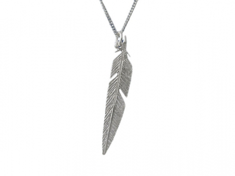 Taigakoru Feather, pendant, silber