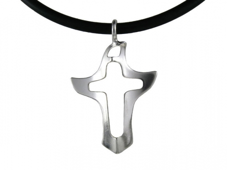 Taigakoru Bird cross, silver