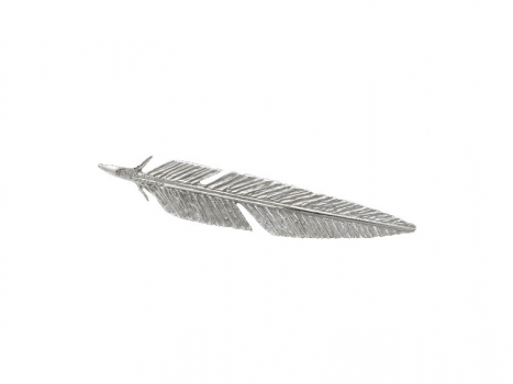 Taigakoru Feather, brooch, silber