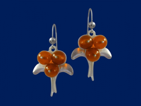 Taigakoru Cloudberry, earrings, silber