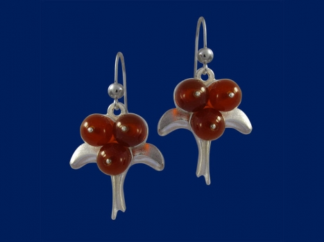 Taigakoru Lingonberry, earrings, silber