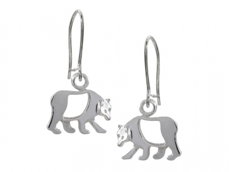 Taigakoru Bear, earrings, small, silber