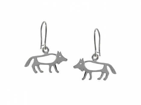 Taigakoru The Wolf, small earrings, silber