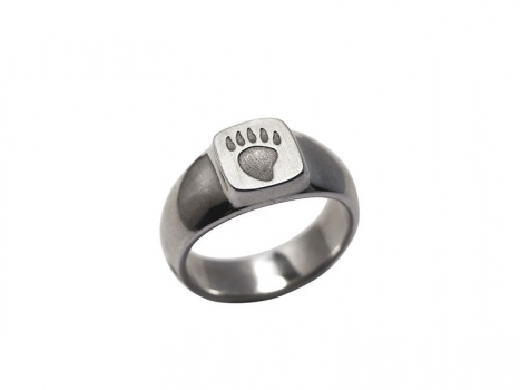 Taigakoru Bear's Post, Sealring, silber