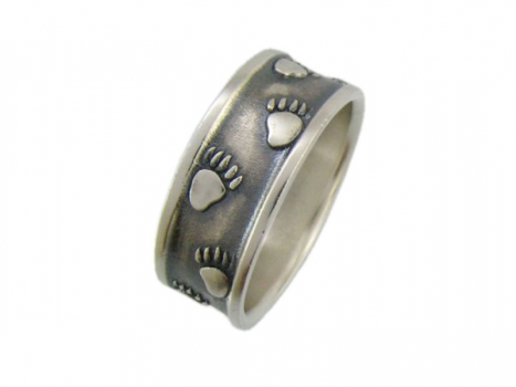 Taigakoru Bear Tracks, Ring, silber