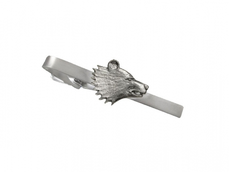 Taigakoru Bear head, tie pin, silber