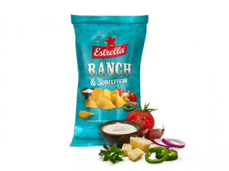 Estrella Chips Ranch & sourcream 275g