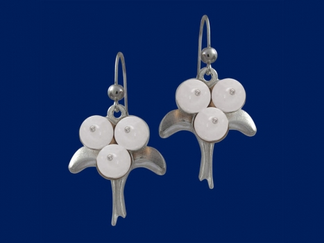 Taigakoru Iceberry, silver earrings