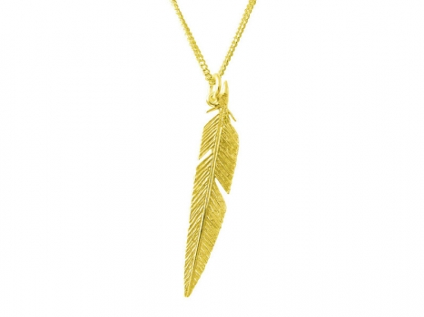 Taigakoru Feather, pendant, gold