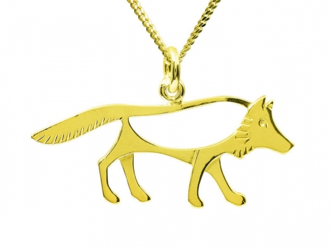 Taigakoru The Wolf, pendant, gold