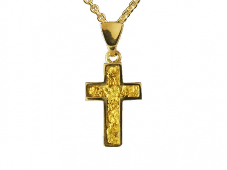 Taigakoru Gold Nugget Cross, pendant