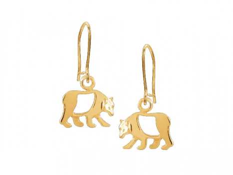 Taigakoru Bear, earrings, small, gold