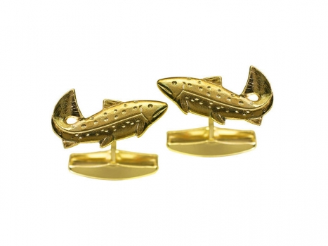 Taigakoru Trout, cufflinks, gold