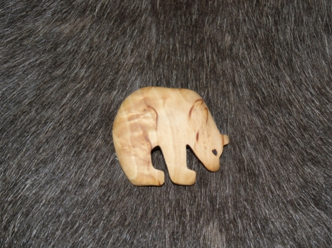 Wood Jewel Magnet Bär(2116)