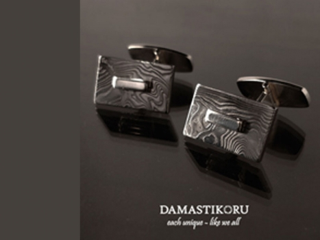 Damastikoru Cufflinks, Damascus steel
