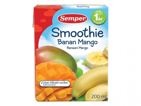 Semper Smoothie Banan och mango 1 år, 200ml