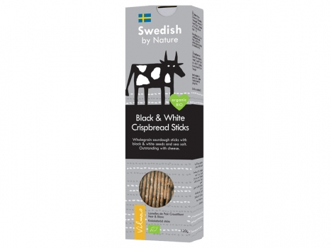 Vilmas Black & White Crispbread Sticks BIO, 120g