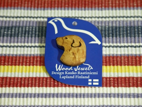 Wood Jewel Pin Hund(173)