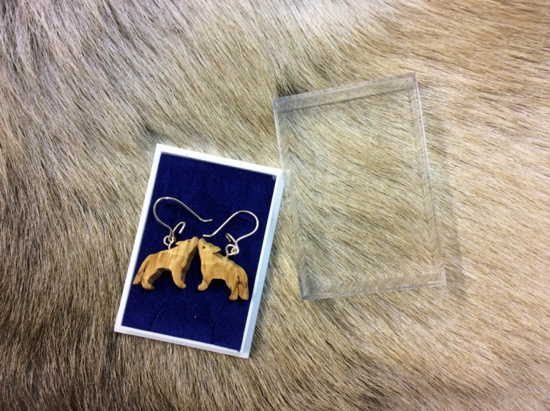 Wood Jewel Ohrringe Wolf(245K)