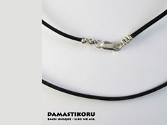 Damastikoru small, slim and narrow Cross pendant, Damascus